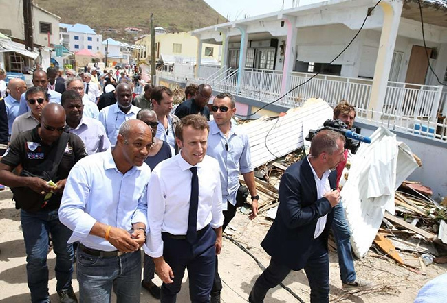Europe leaders view devastated islands as locals struggle