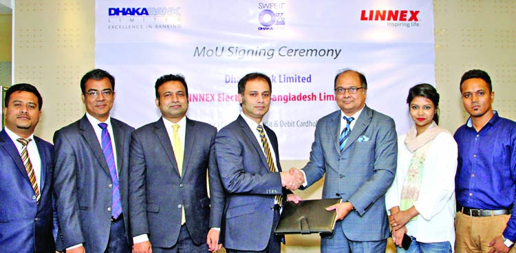 Dhaka Bank, Linnex sign deal