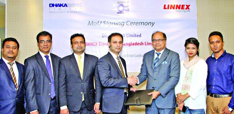 Dhaka Bank, Linnex sign deal
