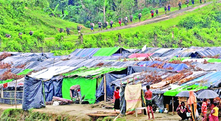 Trapped by landmines and a creek, Rohingyas languish in no-man's land