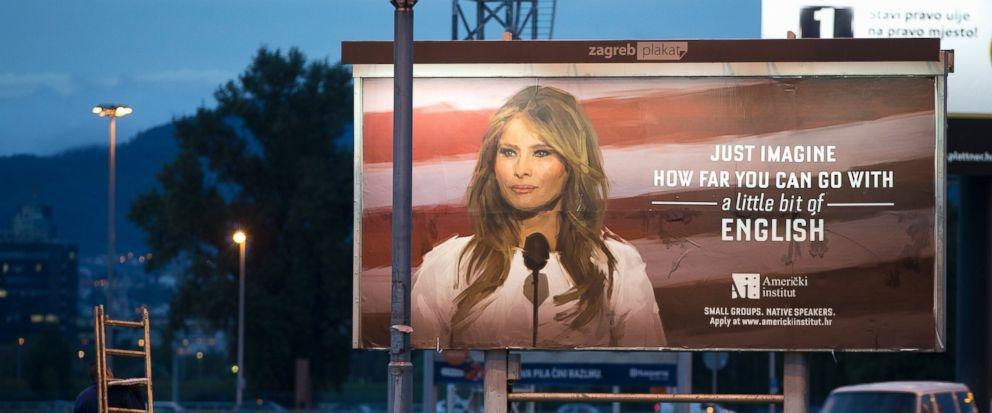 Melania threatens lawsuit over English class billboard