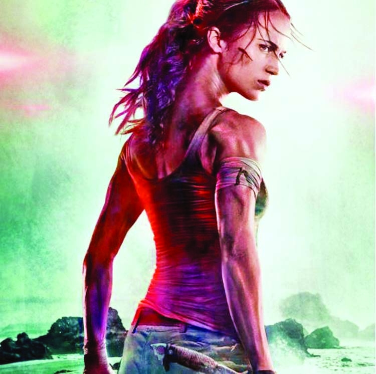 Alicia Vikander Tomb Raider: Alicia Vikander Looks Fiery In Tomb Raider First Poster