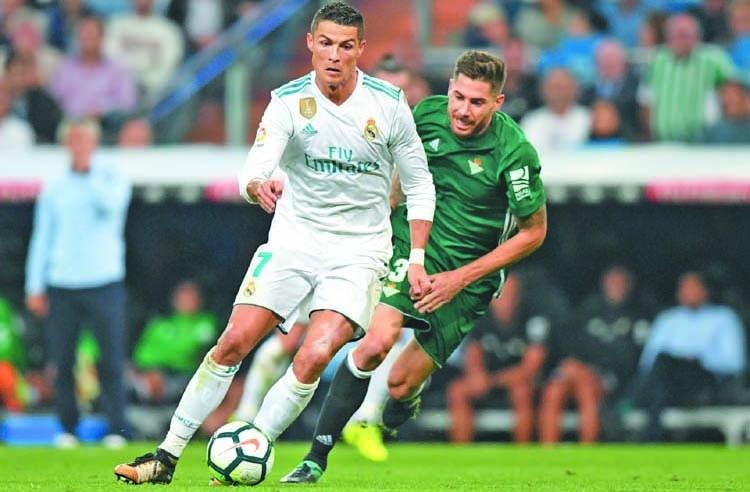 Madrid beaten by Betis on Ronaldo return