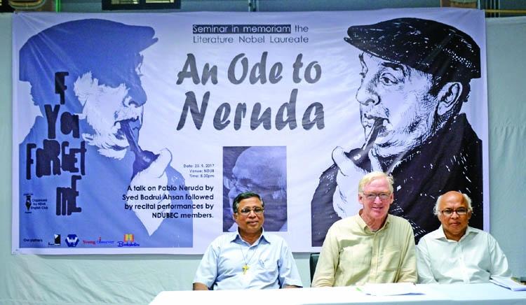 Seminar 'An Ode to Neruda', poetic drama staged at NDUB