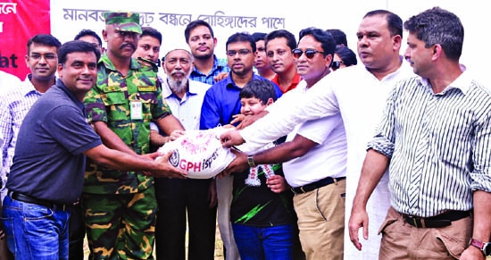 GPH, Crown Cement distribute aid among  Rohingyas