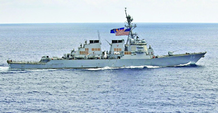 China protests to US over sail-by in S China Sea
