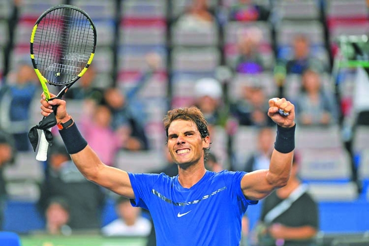 Nadal, Federer win in straight sets at Shanghai Masters