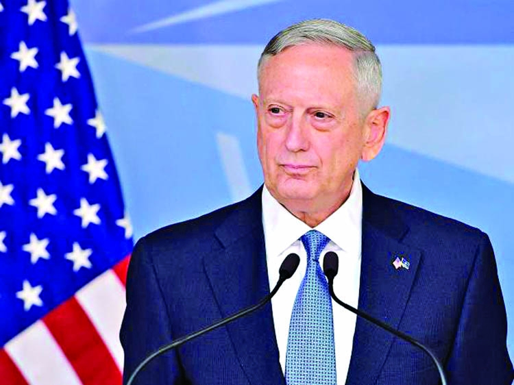 US Defense Secretary Jim Mattis has warned North Korea that the US will  retaliate with a
