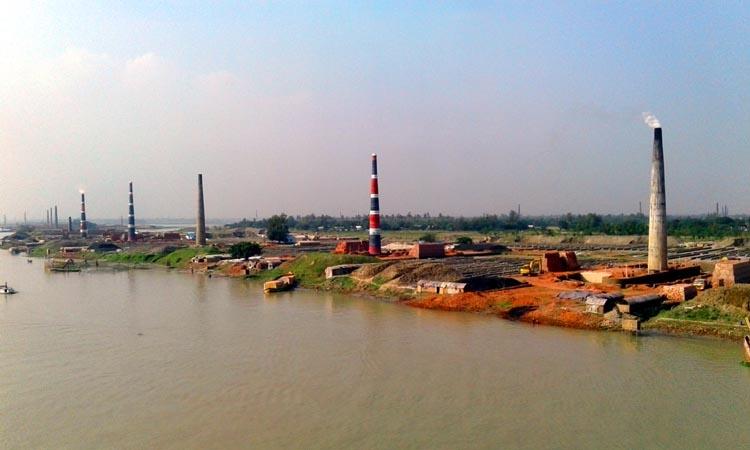 Brick field owners grabbing  Dhaleshwari River banks