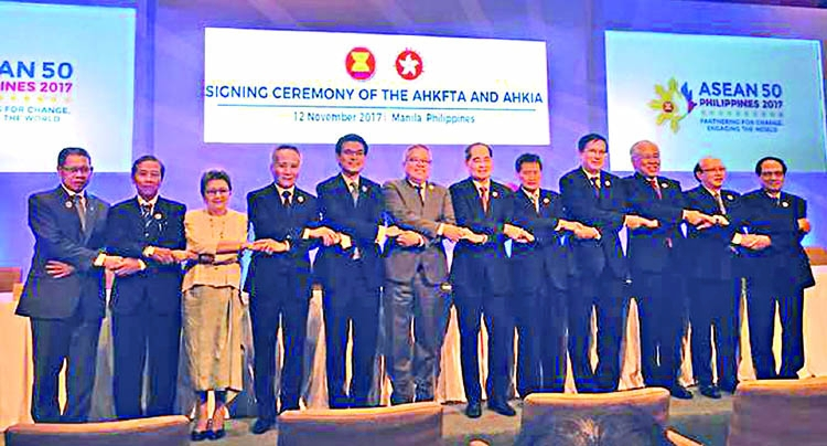 ASEAN signs free trade, investment pacts with Hong Kong