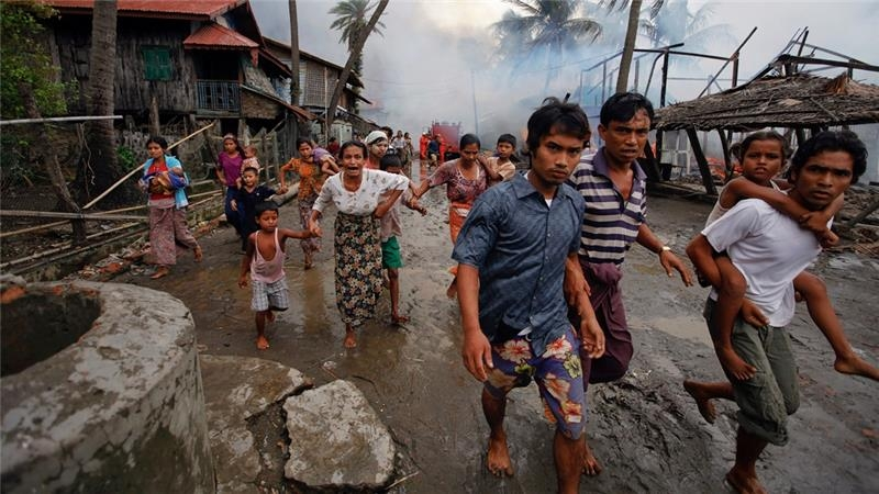 Myanmar army trying to hide crimes against humanity