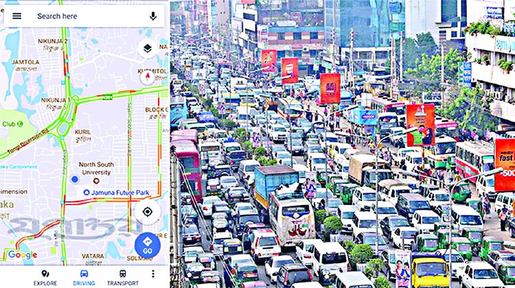 Google Maps let you know traffic updates of Dhaka | The ... on social media traffic, google map pin, mobile traffic, apple maps traffic, google search traffic, ted williams tunnel traffic, skype traffic, map directions with traffic, sms traffic, google map color key, blog traffic, google navigation traffic, nokia maps traffic, maps and traffic, maps driving directions traffic, google mspd, google map hong kong, web traffic, google live traffic,