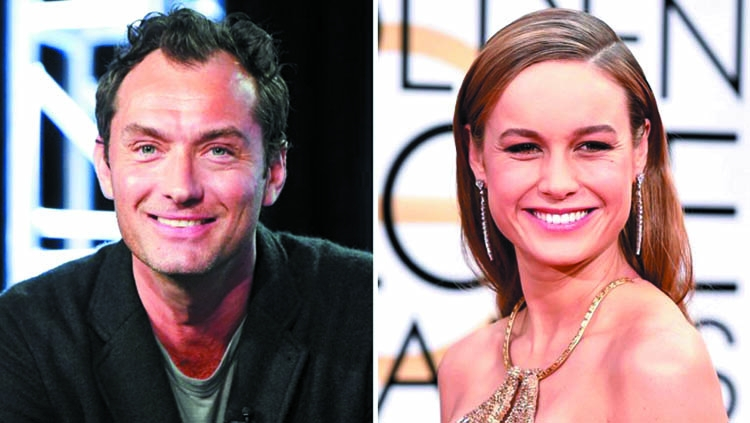 Jude Law to star opposite Brie Larson