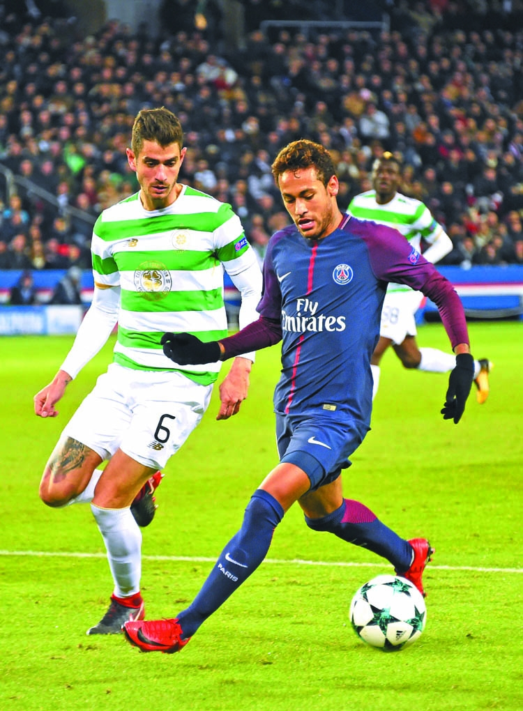 PSG destroy Celtic, Chelsea cruise into last 16