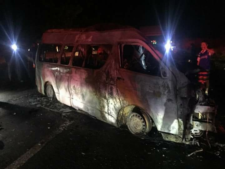 13 Myanmar passengers killed in Thai van crash