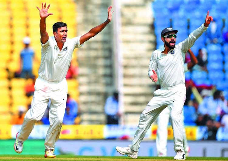 Ashwin, Sharma make India shine on Day-1