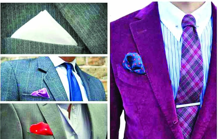 Men's pocket square types