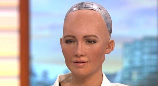 Robot Sophia lands in Dhaka