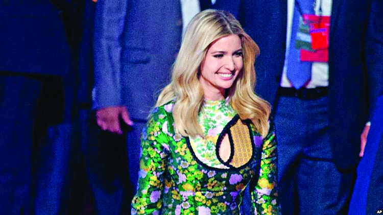 Ivanka criticized for choice of clothing during India visit