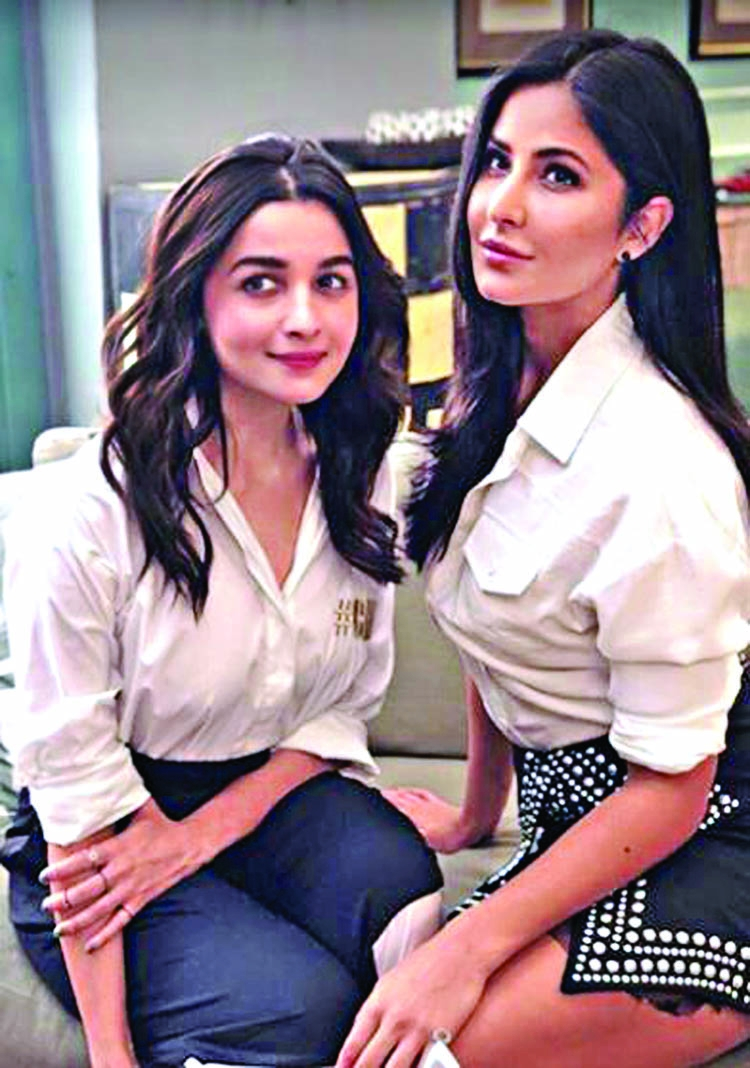 Alia Bhatt And Katrina Kaif Are Twinning In White  The -1042