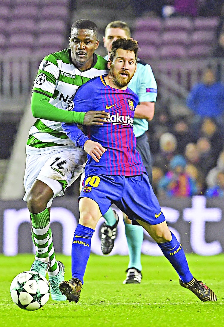 Barca beat Sporting, Chelsea sink to 2nd