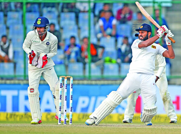 Lankan hold on for brave draw