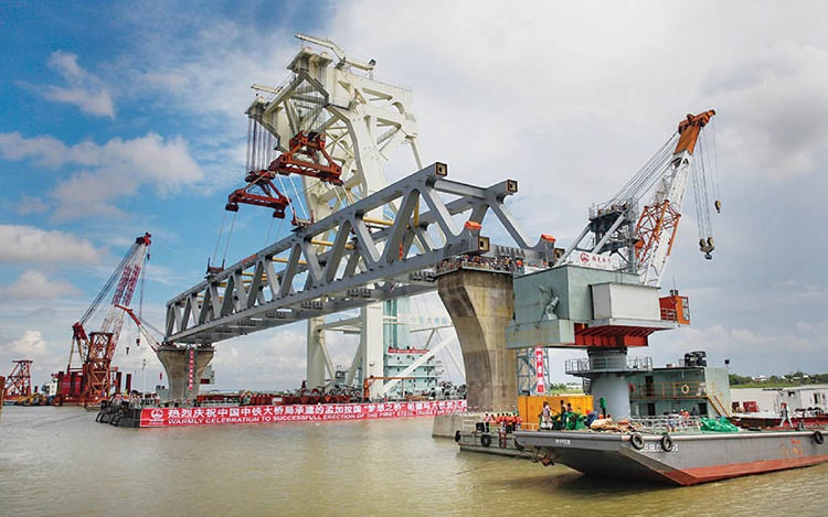 Padma Bridge construction site draws many tourists