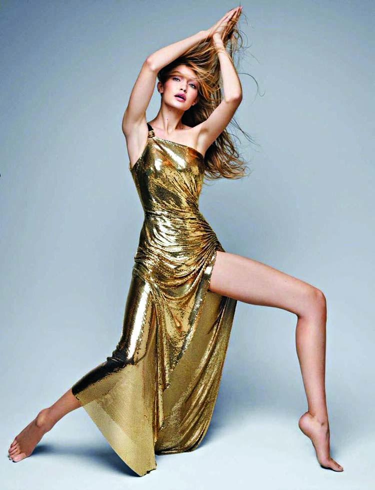Gigi Hadid flashes armpit hair in skimpy gym wear