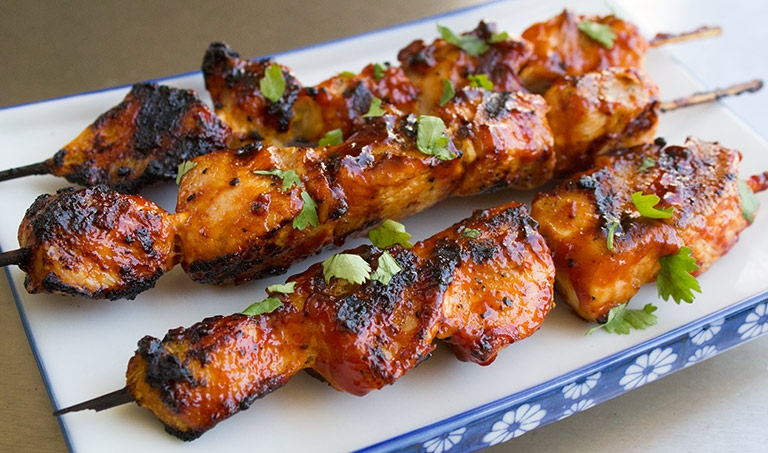 BBQ Chicken Skewers
