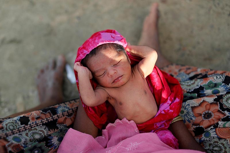 48,000 Rohingya babies set to be born in overcrowded camps in 2018