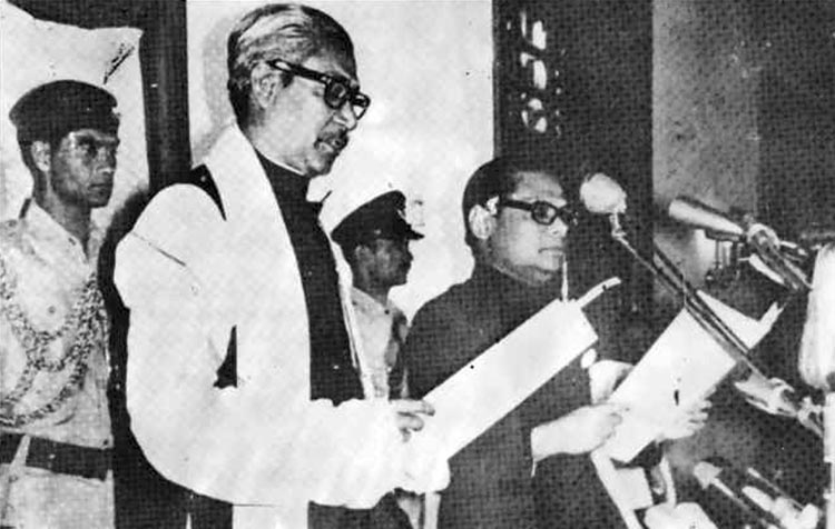Bangabandhu takes over as Prime Minister