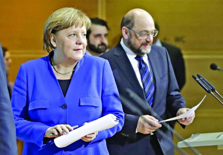 Merkel confident on EU with new German govt