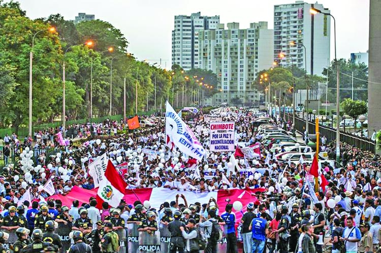New rallies against Fujimori in Lima