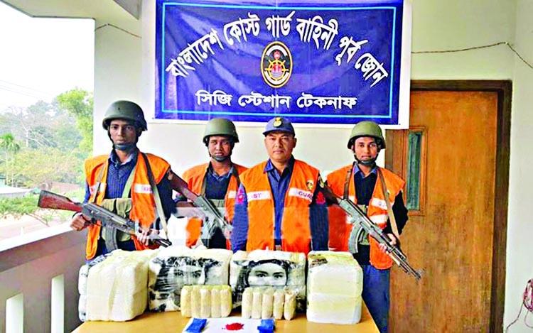Tk 210m valued yaba pills seized at Teknaf