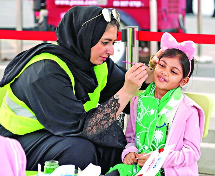 Saudi women football fans finally in grandstand