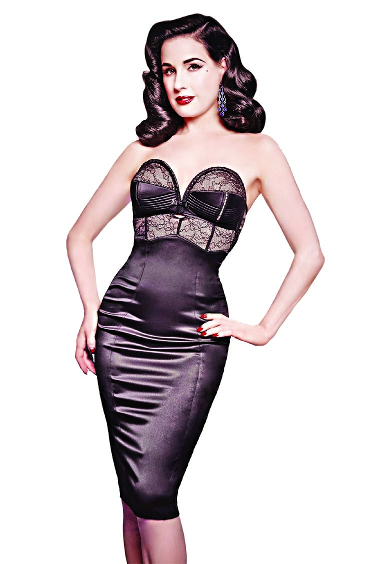 Dita Von Teese ready to embrace grey hair