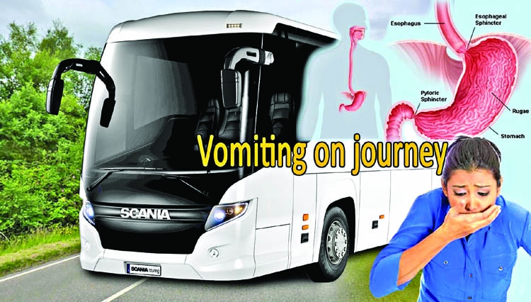 Avoid vomiting on journey