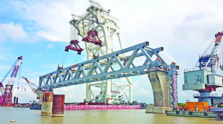 Padma Bridge's 53% task done