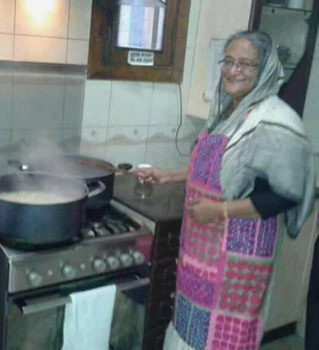 Sheikh Hasina enjoys cooking this holiday
