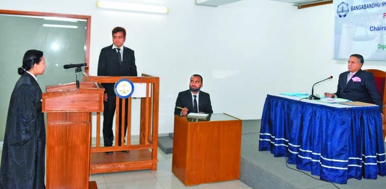 BSMRMU organizes Moot Court