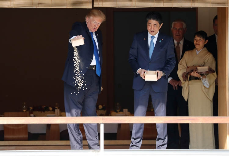 Will Trump snap Japan's feeble tightrope?