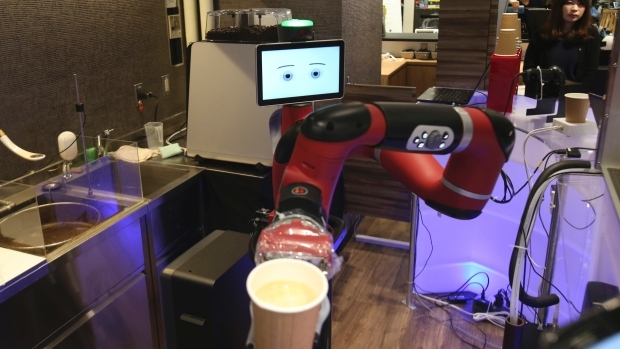 One-armed robot brews and serves coffee at Tokyo restaurant