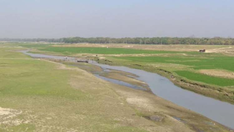 Pagla River dying  due to siltation