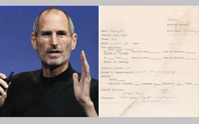 Steve Jobs résumé fetches $174,000