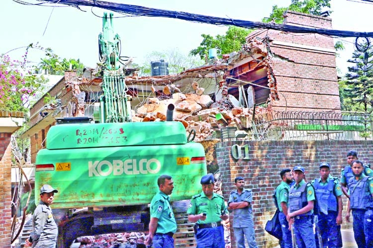 RAJUK demolishes FBCCI former chief's house