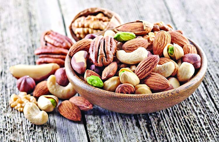 Nuts: A good source of energy but low in calories
