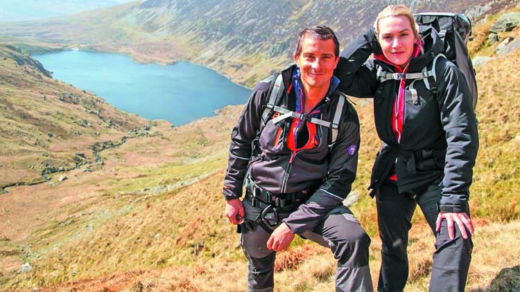Kate Winslet in Snowdonia mountain