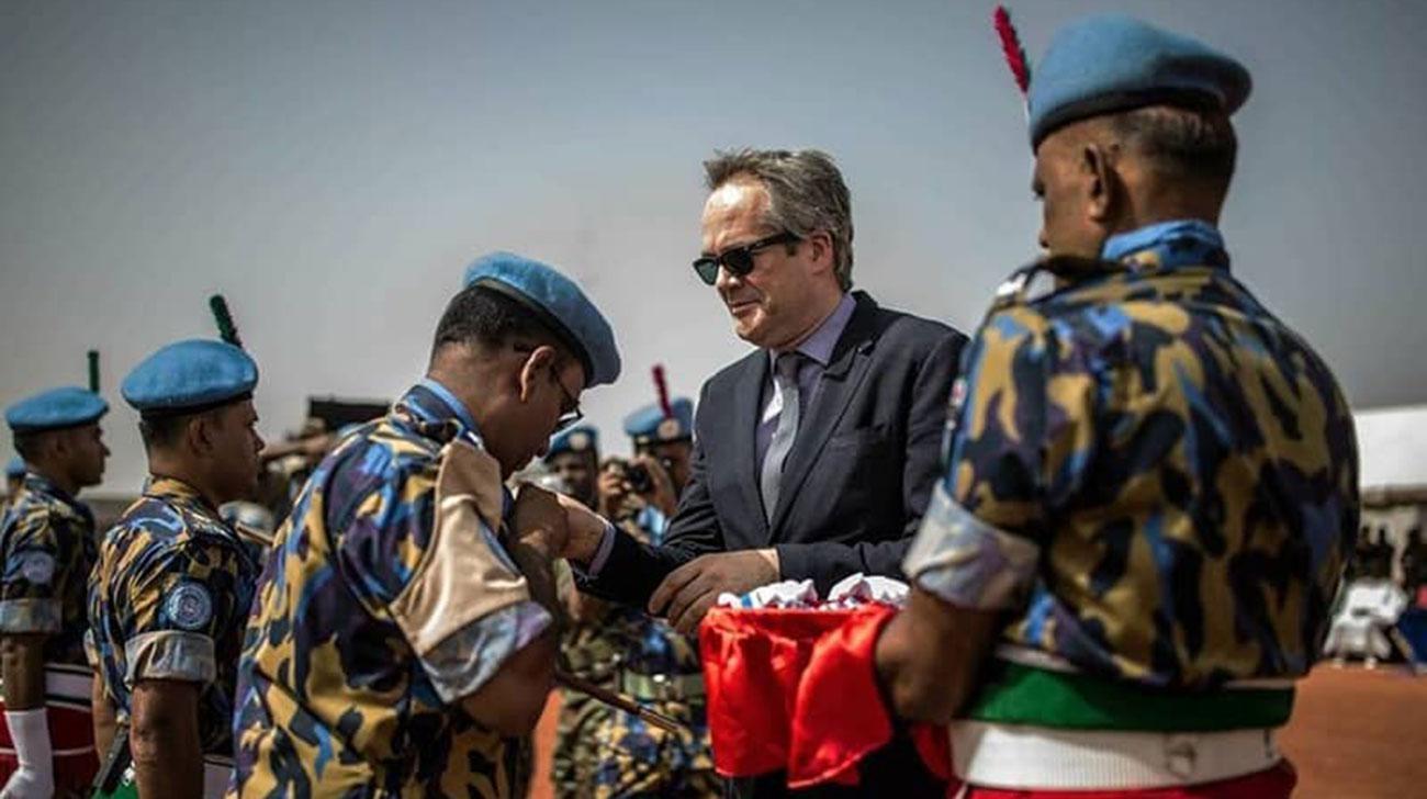 Bangladeshi peacekeepers get UN medal in Mali