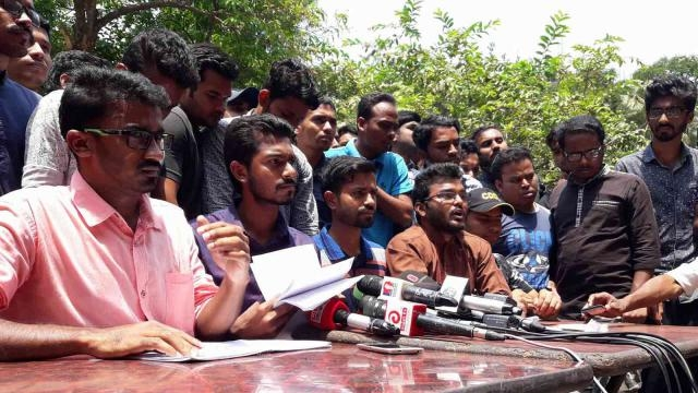 Quota protesters demand withdrawal of cases in 2 days