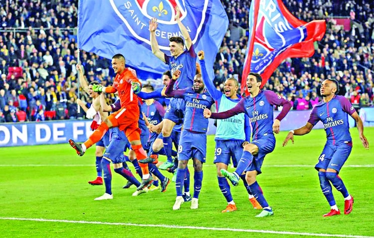 PSG win seventh title after crushing champions Monaco